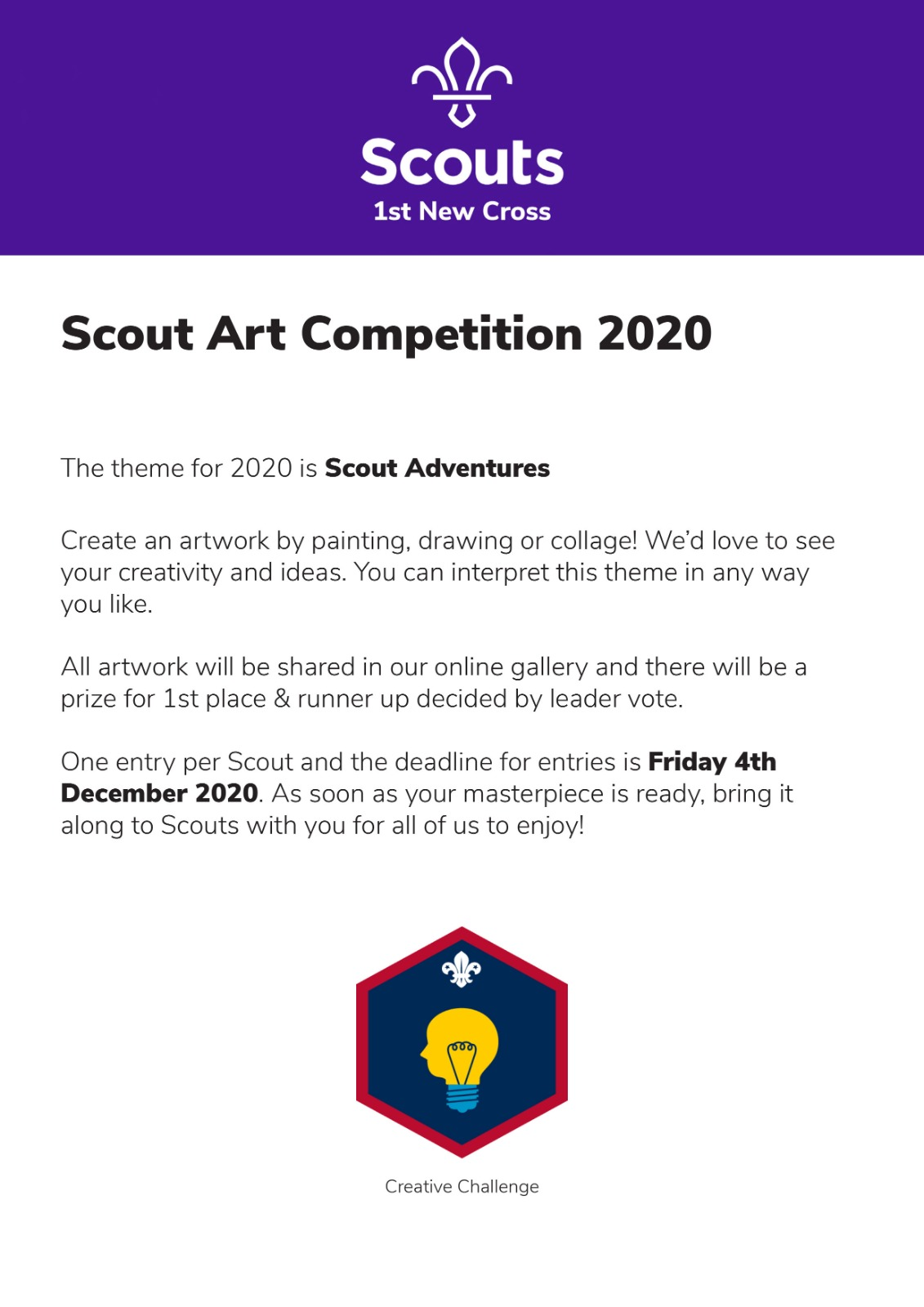 Scout Art Competition 2020